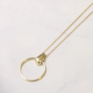 Fine Silver-Gold Circle Pendant Necklace